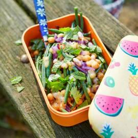 Frisse boontjessalade met munt en koriander