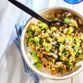 Couscous met bleekselderij en rozijnen
