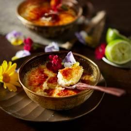Karamelpudding met limoen