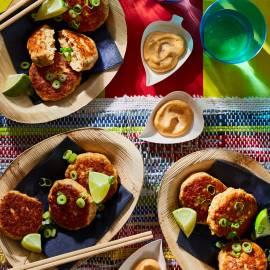 Thaise viskoekjes met chili-mayo