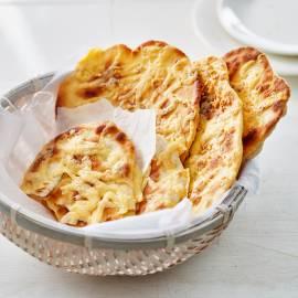 Indiase knoflook-kaasnaan
