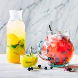 Citrus-komkommerwater met munt