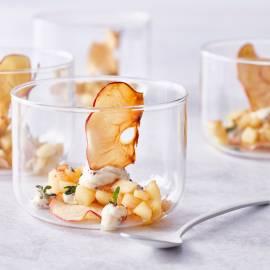 Appelkrokantje met roomkaas en gebakken appel