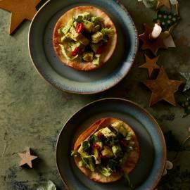Tartine met avocado en maanzaad