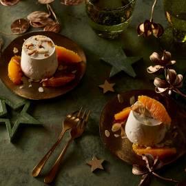 Amandel-semifreddo met sinaasappel