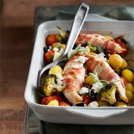 Provençaalse ovenschotel met krokante kip en aardappeltjes