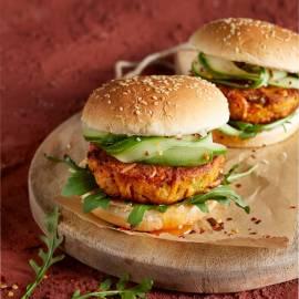 Pittige zoete-aardappelburgers