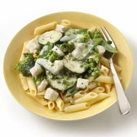 Pasta met groene groenten