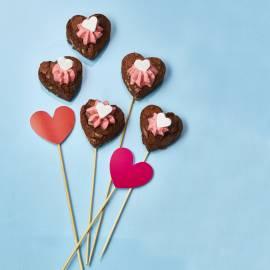 Brownies met frambozencrème