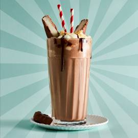 Double chocolate-kokosshake