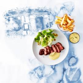 Steak frites met bearnaisesaus