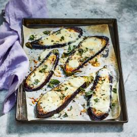 Gegratineerde aubergine