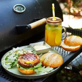 Orange burger