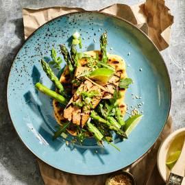 Geroosterde tofu met groene asperges