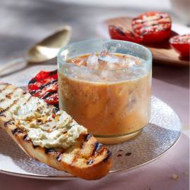 'Bouillon' van gegrilde tomaten