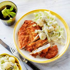 Kipschnitzel met aardappelsalade