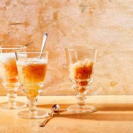 Sinaasappelgranita met prosecco