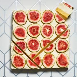 Mascarpone-cheesecake met vijgen