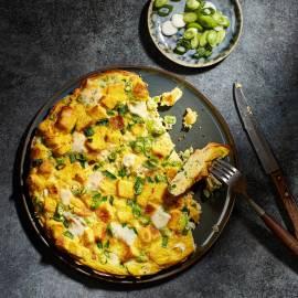 Gorgonzola-omelet