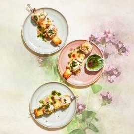 Involtini-spiesen met pancetta en oregano