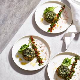 Spinazie-sformato met spicy gremolata