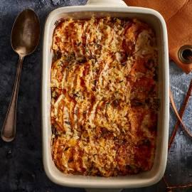 Gratin van zoete aardappel en knolselderij