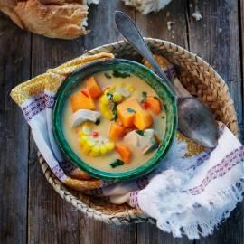 Caribische zoete-aardappelsoep