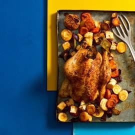 Geroosterde kip met wintergroenten
