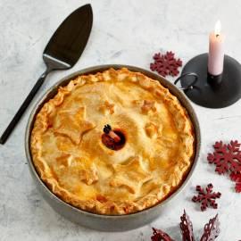 Meat pie met pruimen en appel