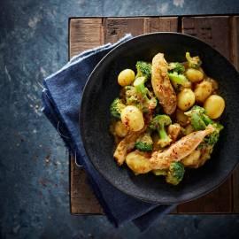 Kipcurry met aardappel