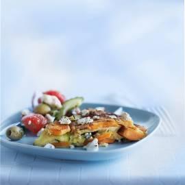 Frittata met zoete aardappel en courgette