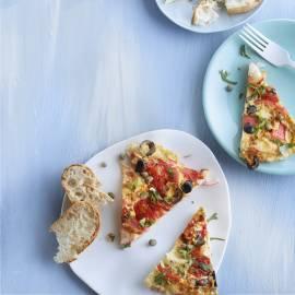 Tomatenfrittata met surimi