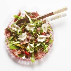 Geroosterde-groentesalade met olijven-balsamicodressing