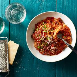 Spaghetti al ragù di verdura