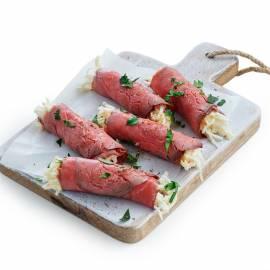 Rosbiefrolletjes met selderijsalade