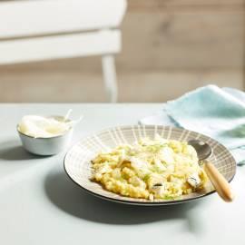 Venkelrisotto met gorgonzola
