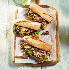 Philly cheese steak-sandwich