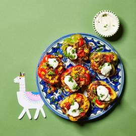Gevulde paprika's met Mexicaans gehakt