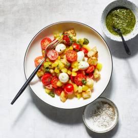 Caprese-salade met ciabatta-croutons
