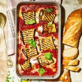 Aubergine-cannelloni met mozzarella