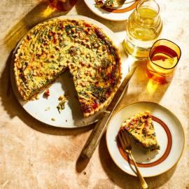 Spinazietaart met ricotta en pijnboompitten