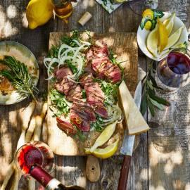 Tagliata con aglio e peperoncino
