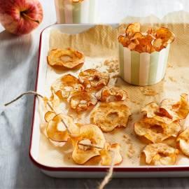 Gedroogde appelringen met kaneelsuiker