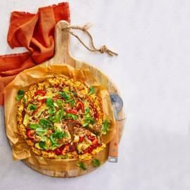 Aardappelpizza met tonijn