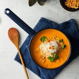 Zoete-aardappelsoep met noedels