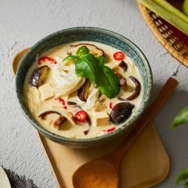 Thaise kokossoep met paddenstoelen