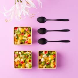 Aziatische fruitsalade met limoen en munt