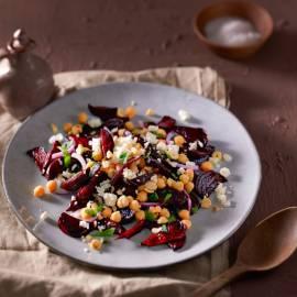 Salade van geroosterde bietjes met munt en feta