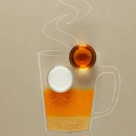 Gouden kurkuma-gember latte