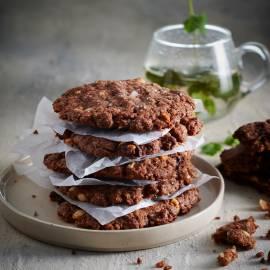 Zoute chocoladekoekjes met hazelnoten